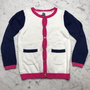 Old Navy Colorblock Button Down Cardigan Sweater